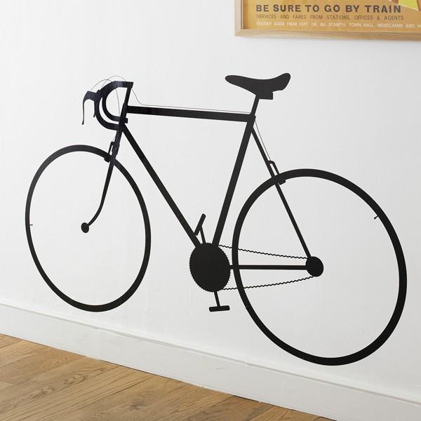 black bike wall sticker - kwerks