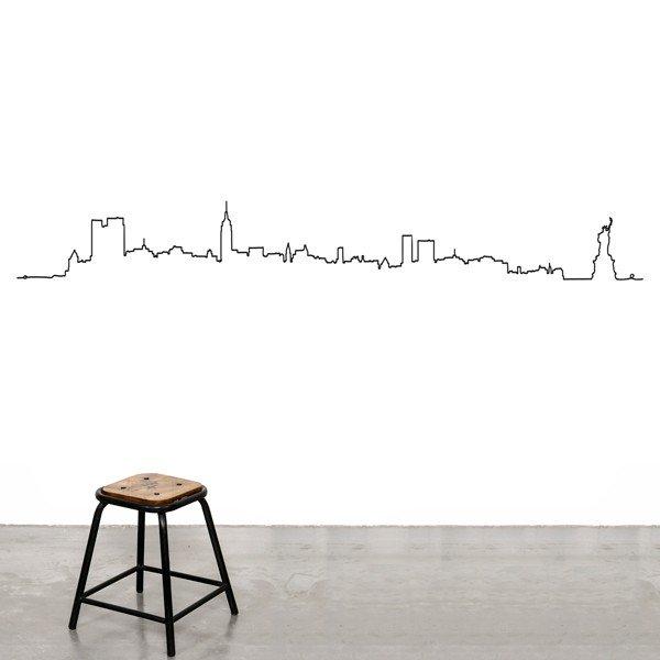 skyline of new york wall sticker - kwerks