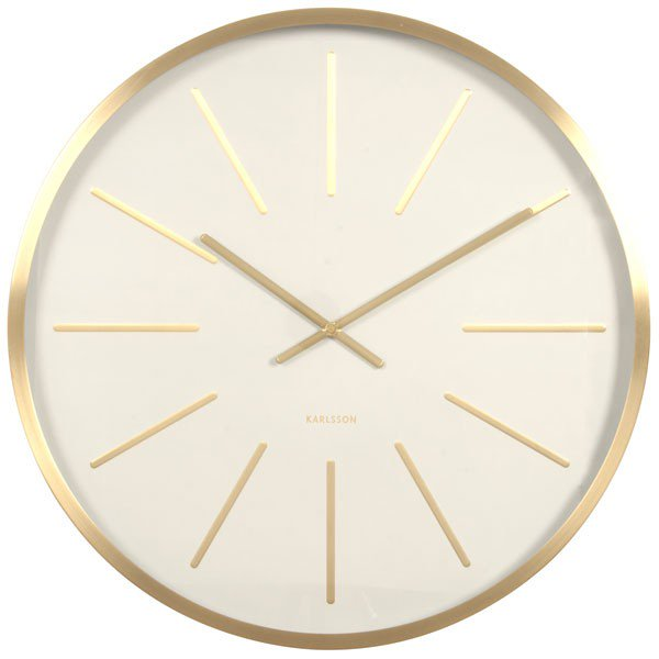 Extra Large Brass Wall Clock Kwerks