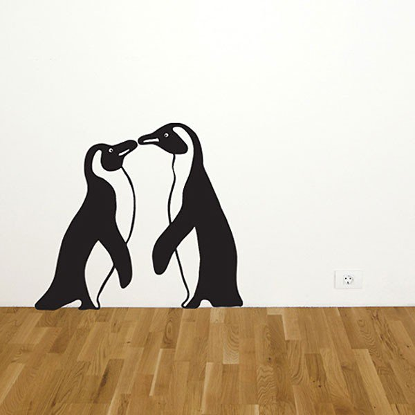 2 Penguin Wall Stickers - Kwerks